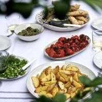 Ein schöner Sommerabend braucht was Schönes zu Essen. Und ich erst Recht :).